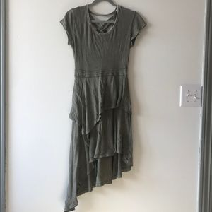 Free People Asymmetrical Green Dress
